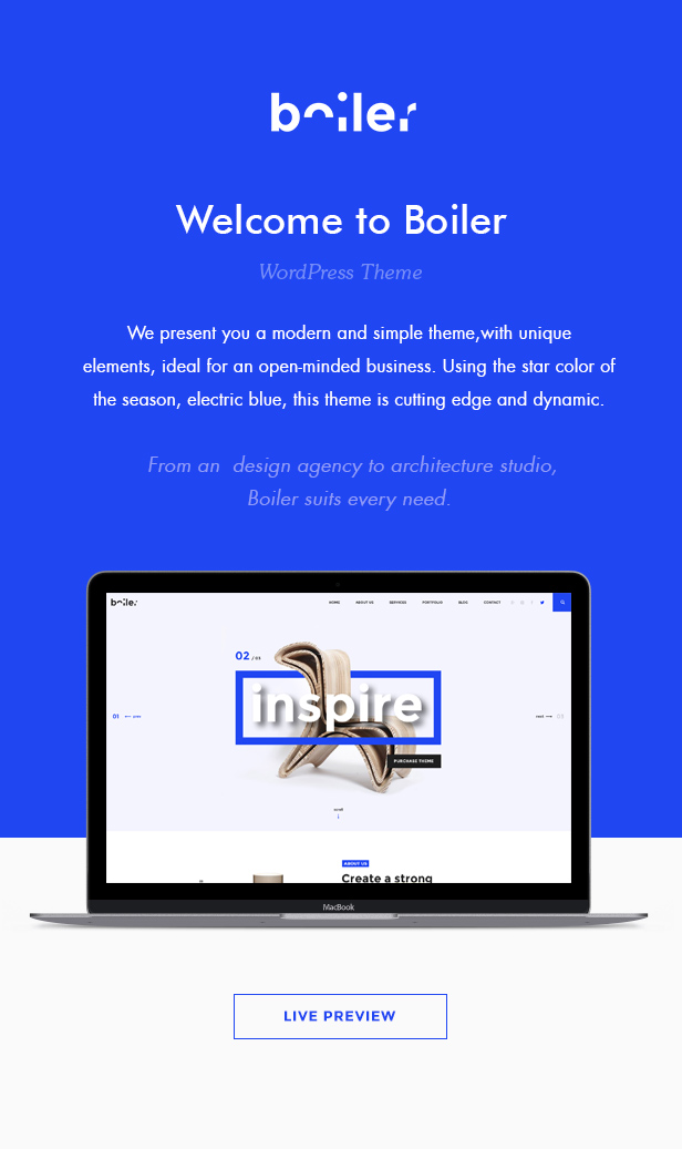 Boiler – Inventive Agency &amp Business enterprise Theme (Corporate)
